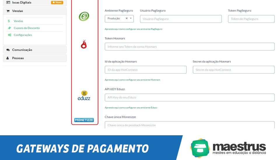 Gateways de pagamentos nacionais